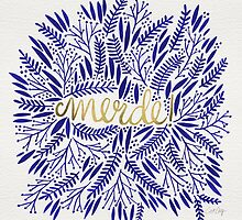 Pardon My French – Navy & Gold by Cat Coquillette