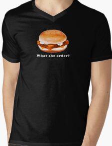 What she order?  Mens V-Neck T-Shirt