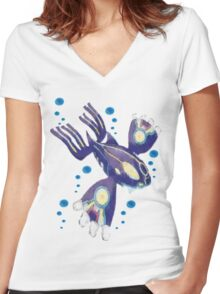 Only Primal Kyogre (Pokemon Alpha Sapphire) Women's Fitted V-Neck T-Shirt