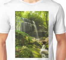 Waterfall and mossy rocks Unisex T-Shirt