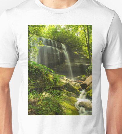 Waterfall and mossy rocks Unisex T-Shirt