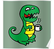 tea rex dino fun  Poster