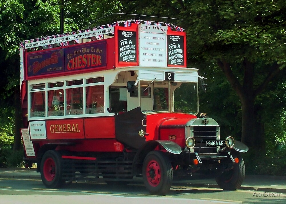 Chester's Olde Tour Bus, Chester, England by AnnDixon