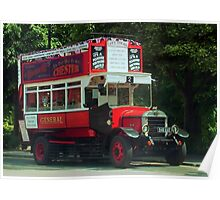 Chester's Olde Tour Bus, Chester, England Poster