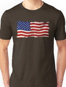Tattered Grunge Patriotic USA Flag, United States Unisex T-Shirt