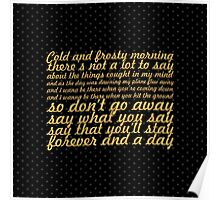 "Oasis... ""Don't go away"" Song Lyric (Square) Poster"
