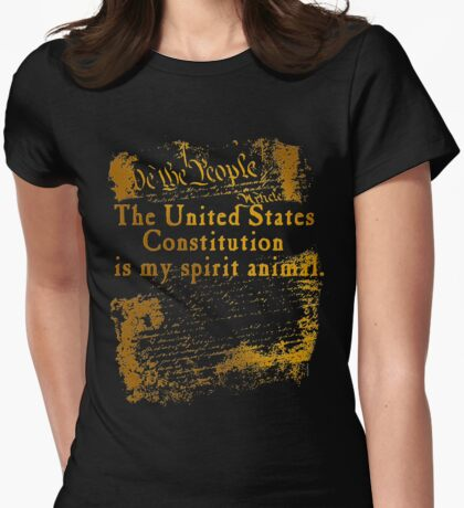 US Constitution is My Spirit Animal Womens Fitted T-Shirt