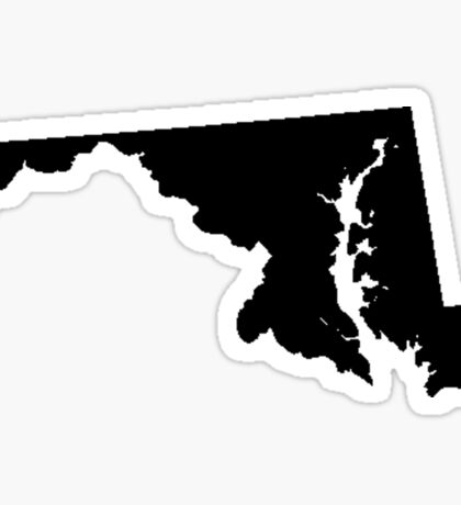 Maryland Black Sticker