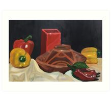 Peppers and Pots  Art Print