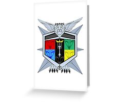 Voltron Force Coat of Arms Greeting Card