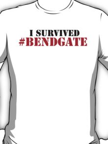 Hilarious Limited Edition 'I survived #bendgate' iPhone 6 Comedy T-Shirt T-Shirt