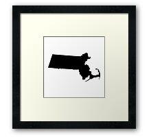 Massachusetts Black Framed Print