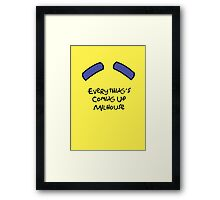 Everything's Coming Up Milhouse Framed Print