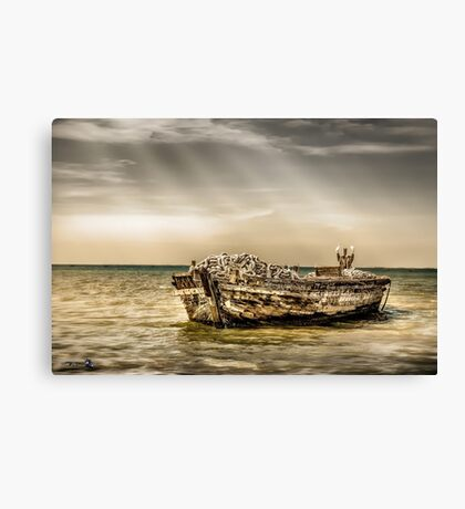 Boat had better days Canvas Print