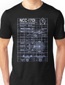 NCC-1701 Blueprint Star Enterprise Trek TV Sci-Fi Novelty Unisex T-Shirt
