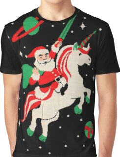 Santa and Unicorn Graphic T-Shirt