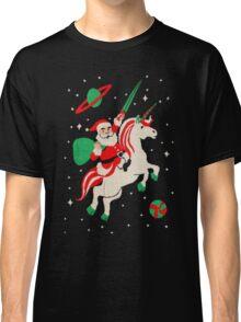 Santa and Unicorn Classic T-Shirt