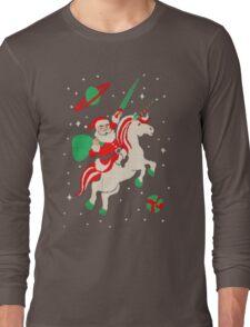 Santa and Unicorn Long Sleeve T-Shirt
