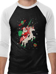 Santa and Unicorn Men's Baseball ¾ T-Shirt