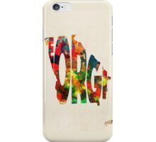 Georgia Typographic Watercolor Map iPhone Case/Skin