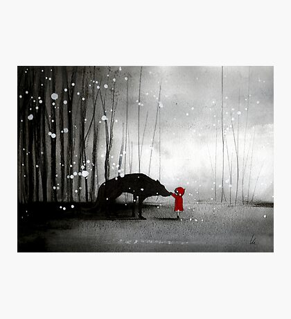 Little Red Riding Hood ~ The Fisrt Touch  Photographic Print