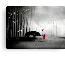 Little Red Riding Hood ~ I love You  Canvas Print