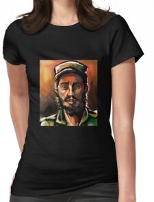 Brush Paint Fidel Womens Fitted T-Shirt