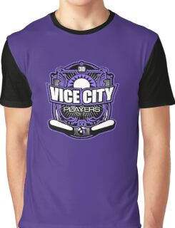 Vice City Players Purple 30 Graphic T-Shirt