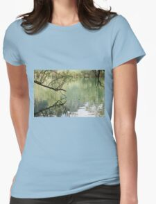 lake scape Womens Fitted T-Shirt