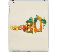 Austria Typographic Watercolor Map iPad Case/Skin