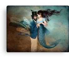 A Mermaids Love Canvas Print
