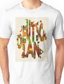 Germany Typographic Watercolor Map Unisex T-Shirt
