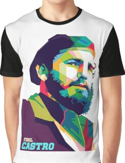 Fidel Lowpoly Beard Graphic T-Shirt