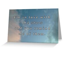 In love with the stars Greeting Card