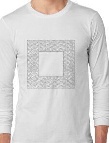 Square Black Long Sleeve T-Shirt