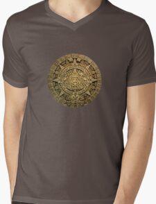 AZTEC,MAYAN CALENDAR Mens V-Neck T-Shirt