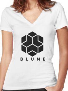 Blume Women's Fitted V-Neck T-Shirt