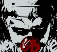Claustro The Clown v2 sticker, black Sticker