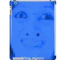 blue messy iPad Case/Skin