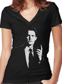 cooper Women's Fitted V-Neck T-Shirt