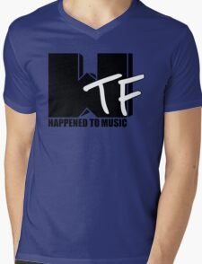 WTF Happened To Music Solid Mens V-Neck T-Shirt