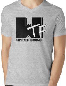 WTF Happened To Music Solid Mens V-Neck T-Shirt