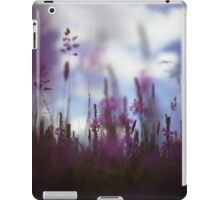 Long grass and wild flowers on summer day in Spain square medium format film analogue photography iPad Case/Skin