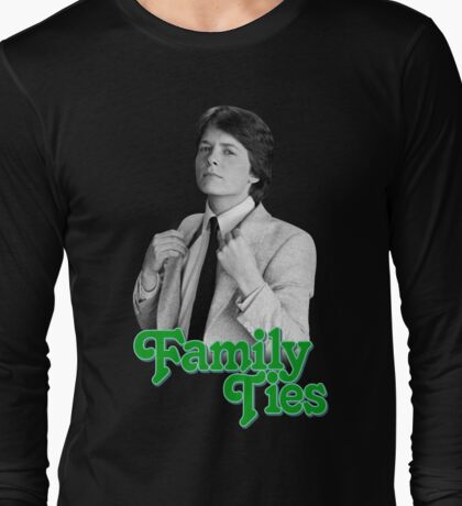Michael J Fox - Family Ties Long Sleeve T-Shirt