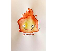 """Howl's Moving Castle - Calcifer """"She likes my Flame"""" Photographic Print"""