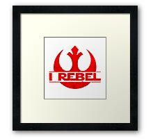 I rebel Framed Print