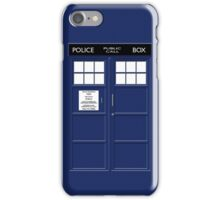 POLICE PUBLIC CALL BOX  iPhone Case/Skin