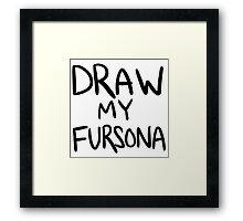 draw my fursona Framed Print