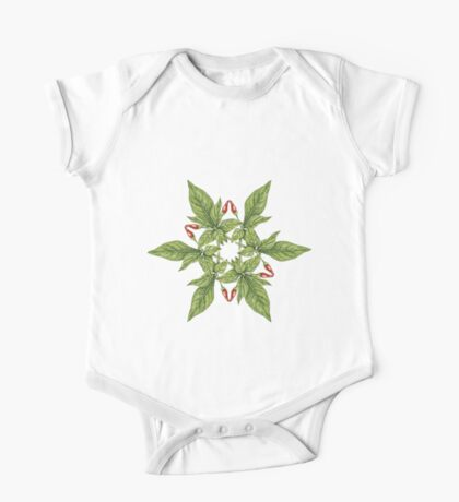 Chilly plant 2- red fruits One Piece - Short Sleeve