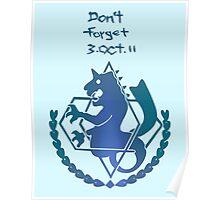 FullMetal Alchemist - Don't forget, Amestris Poster